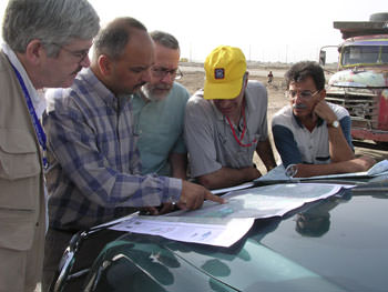 DAI staffers in the field working to save the Iraqi marshlands