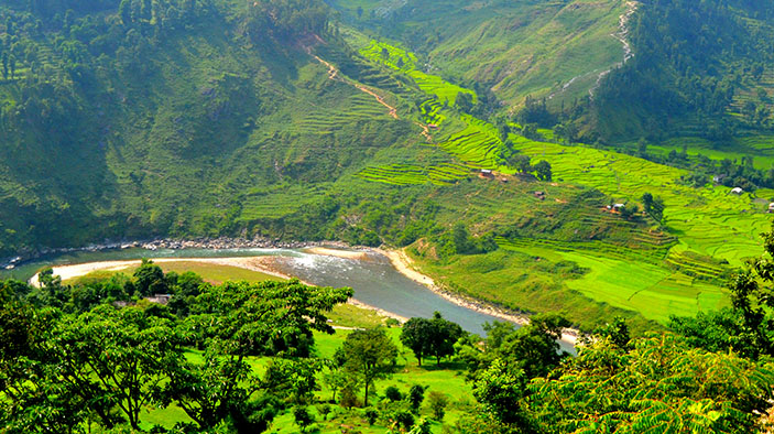nepal beautiful scenic Himalayan range