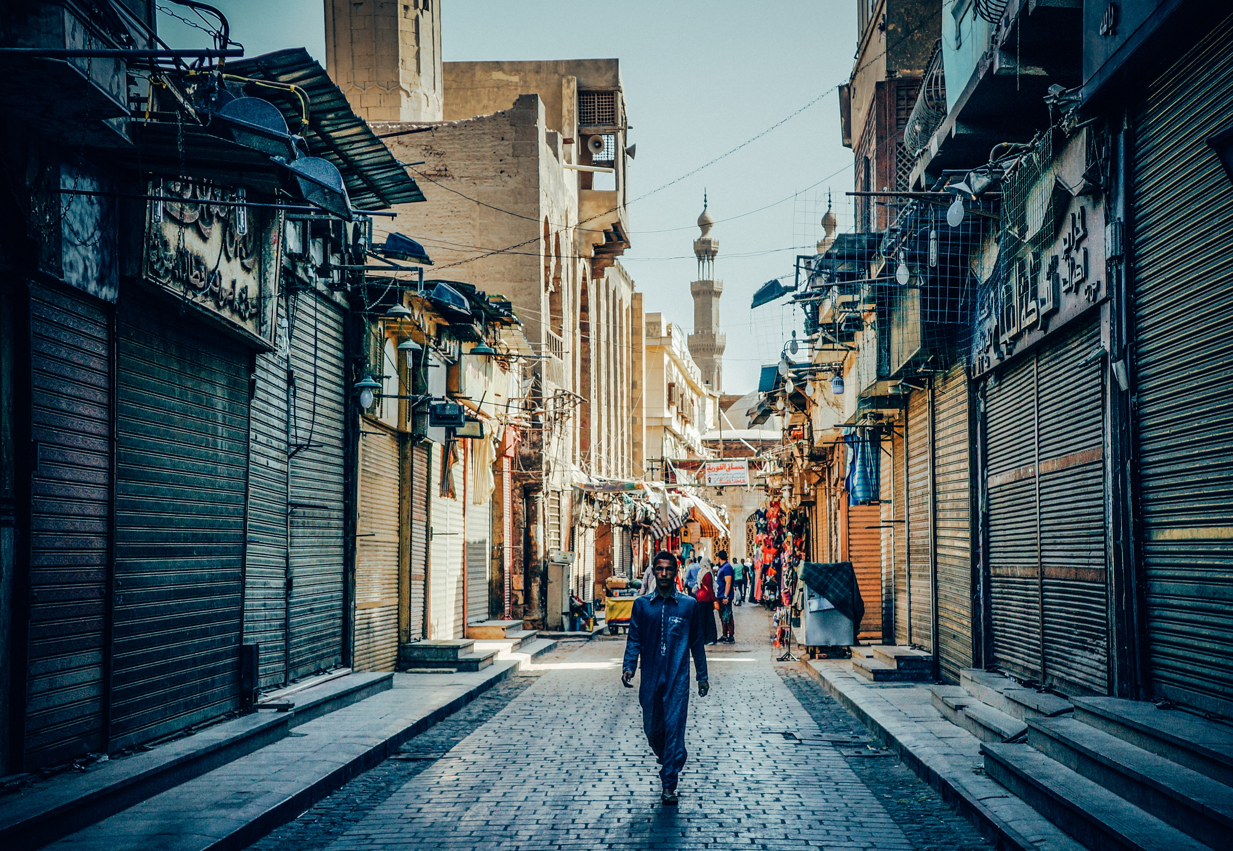 A photograph of a street in Cairo